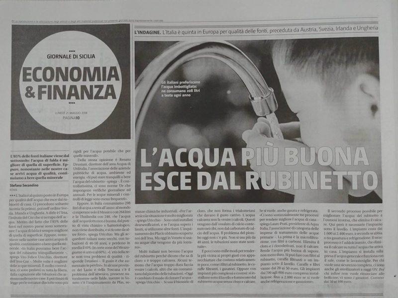 Pagina di giornale di Sicilia